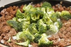 Had this for dinner tonight ,YUMMY ! I doubled the sauce ingredients( o Hamburger Broccoli Recipe, Healthy Beef And Broccoli, Ground Beef And Broccoli, Ground Beef And Potatoes, Healthy Ground Beef, Broccoli Beef, Broccoli Recipes, Ground Beef Recipes For Dinner, Korean