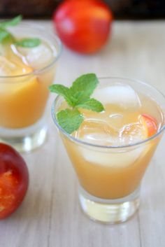Iced Nectarine Green Tea - i bet these would make yummy popsicles