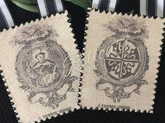 Escapulario San Vicente Ferrer. Saint Dominic, Bookmarks, Etsy, Saints, Santo Domingo, San Vicente, Hand Embroidery, Handmade Gifts, Activities