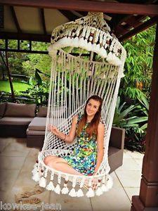 Superieur Macrame Birdcage Chair Bikini Butterfly Shawl Hamper Pattern BK   EBay