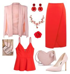 Designer Clothes, Shoes & Bags for Women Johnny Loves Rosie, Nine West, Warehouse, Shoe Bag, Polyvore, Red, Pink, Stuff To Buy, Outfits