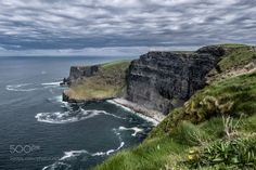 The Cliff by daviemcadam - seacloudsmoodycliffs of mohermoody skythe cliff