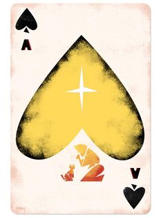 Disney Playing Cards Ace of Spades-Inspired by Geppetto/Pinocchio