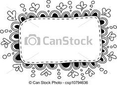 Image result for art frame doodle