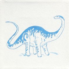 Modern Dinosaur Painting, Brontosaurus via LucyandTor on Etsy, $35