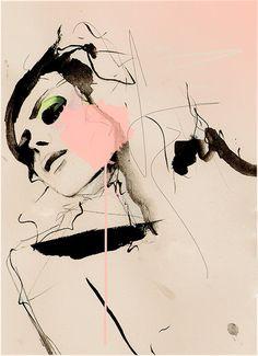 Hence   Fashion Illustration Art Print by LeighViner on Etsy, $28.00
