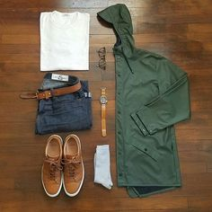 Mid 60s, chance of rain Selvedge Denim x @rgt  Tee x @buckmasonusa  Jacket x @rainsjournal  Sneakers x @greatsbrand  Socks x @uniqlousa  Watch x @seikowatchusa  Strap x @crownandbuckle  Glasses x @jackspadeny  #menswear #mensstyle #mensfashion #fashion #style #stylish #instastyle #instafashion #instadaily #daily #wiw #wiwt #whatiwore #whatiworetoday #outfit #todaysoutfit #ootd #outfitoftheday #look #lookbook #dailylook #denim #shoes #accessories #watch #streetstyle #gqstylehunt #dailypic…