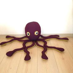 Stuffed octopus kids toy stuffed animals toddler gift by Pillowio