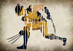 Wolverine Inspired Xmen Typographic Poster by GeekMyWalL on Etsy