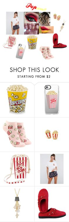 """Popcorn 🍿"" by hibastar ❤ liked on Polyvore featuring Casetify, Forever 21, Betsey Johnson, ASOS and DimeCity"