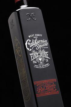 California Square Fine Wine. Red Blend. Designed by Stranger & Stranger. http://lovelypackage.com/wp-content/uploads/2013/09/lovely-package-california-square-wine-3.jpg
