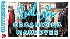 Real Life Organizing Makeover Life Organization, Easy Projects, Real Life, Neon Signs, Organizing Tips, Declutter, Youtube, Decor, Decoration