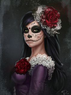 Dead Catrina portrait by DianaGalimova on DeviantArt