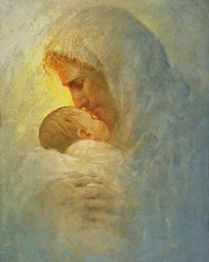 picture of jesus christ holding a baby as he kissing him on the forehead Christian Paintings, Christian Artwork, Arte Lds, Pictures Of Jesus Christ, Bible Pictures, God Pictures, Jesus Painting, Heaven Painting, Lds Art