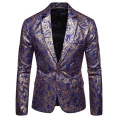 Mens Fashion Suits, Mens Suits, Costumes Slim, Style Costume Homme, Blazer Shirt, Slim Fit Suits, Groomsmen Suits, Floral Blazer, Fitted Suit