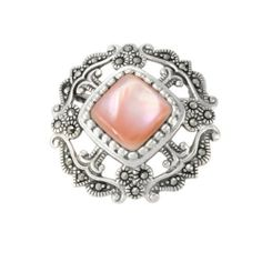Sterling Silver Marcasite Open Work Pink Shell Pin Amazon Curated Collection. Save 66 Off!. $74.00. Marcasite can appear iridescent in the light.