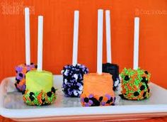 halloween marshmallow pops - Google Search