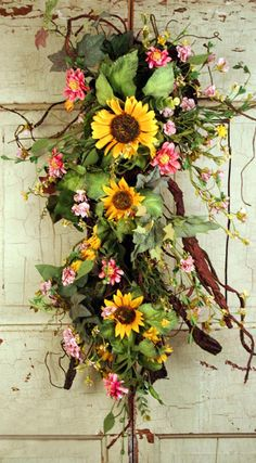 Beautiful Wreath alternative.