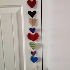 youmakeitsimple: Upcycled Sweater & Paper Heart Garlands