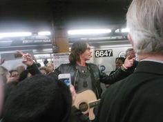 Rick Springfield busking in NYC subway - BLOG.JILLPALLACK.COM