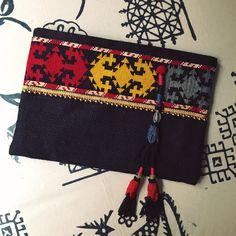Ethnic handbag, uzbek handbag, Black clutch, womens bag, gift for her, clutch purse, fashion clutch, by BohoChicCollection on Etsy