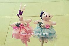 리본공예 Cuty mini rabbit & mini bear