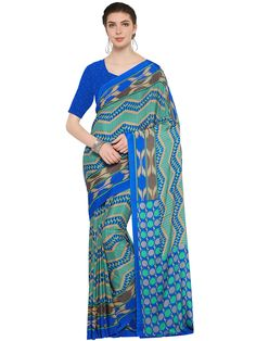 Fetching sky blue crepe casual wear designer saree. Having fabric crepe. This gorgeous saree is displaying some brilliant design done with print. Comes with matching blouse #mydesiwear #Sarees #crepe #WeddingCollection #CasualSarees #OnlineShopping #DisocuntOffer #OnlineWeddingSarees #DesignerWeddingSarees #valentinesday #valentinedaygift2018 #romanticgiftsforher #uniquevalentinesgift