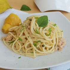 SPAGHETTI CON TONNO LIMONE E MENTA ricetta pasta al tonno
