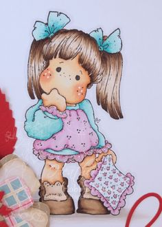 Tilda with Blue Blanket Copic Coloring Card Kit