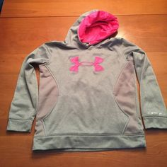Under Armour Youth Storm hoodie Perfect condition.  Silky outer, brushed fleece inner.  So cute! Under Armour Tops Sweatshirts & Hoodies