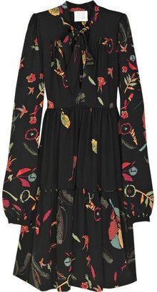 ShopStyle: Ossie Clark Cosmic silk-georgette dress