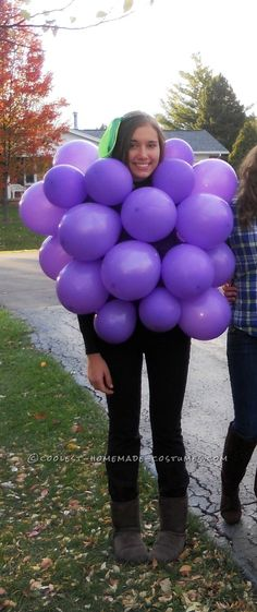 Last Minute Costume Idea: Original Bunch of Grapes!... Coolest Homemade Costumes