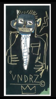 . Jean-Michel Basquiat - VNDRZ, 1982 - Acrylic and oil stick on canvas - 152,1 x 76,2 cm (..)