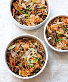 Korean-Style Noodles with Steak and Kimchi @williamssonoma
