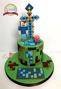 Minecraft cake by Love2bake - Oct 2020 Birthday Ideas, Birthday Cake, Minecraft Cake, Cake Business, Cake Makers, Novelty Cakes, Homemade Cakes, Baking, Desserts