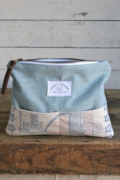 1930's era Chambray & Shot Bag Pocket Utility Pouch