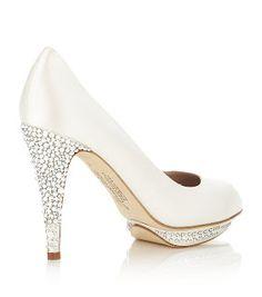 Harriet Wilde crystal peep toe bridal shoes