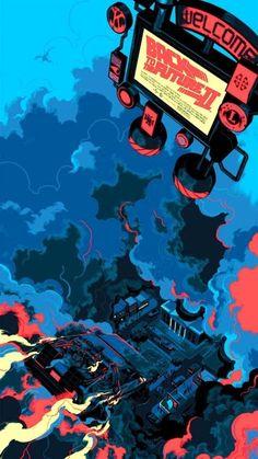 BROTHERTEDD.COM Japon Illustration, Digital Illustration, Alternative Movie Posters, Movie Poster Art, Geek Art, Back To The Future, Illustrations And Posters, Grafik Design, Science Fiction