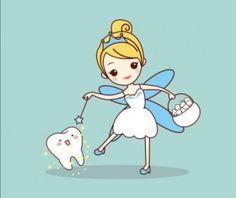 Cartoon tooth fairy vector material 03