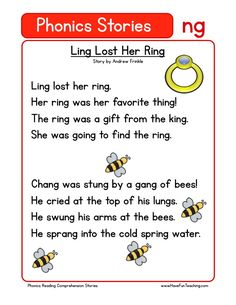This Reading Comprehension Worksheet - Ling Lost Her Ring is for teaching reading comprehension. Use this reading comprehension story to teach reading comprehension.