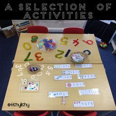 Last week I shared with you the different phonic and writing activities we have in our class. Here are some photos of the specific maths opportunities we've set up over the last two years. Th…