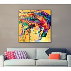 Windswept Print On Canvas By Linzi Lynn Print On Canvas In 2021 Floral Wall Art Canvases Contemporary Art Canvas Artwork