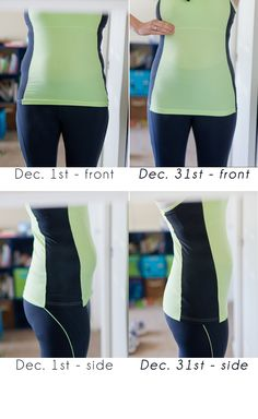 before & after photos: 100 crunches a day in December fitness challenge