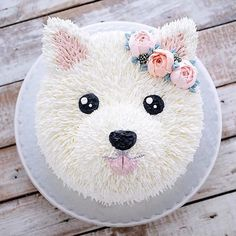 puppy cake birthday \ puppy cake for dogs ; puppy cakes for kids ; puppy cake for dogs birthdays ; puppy cake for dogs recipe ; puppy cakes for kids easy ; Pretty Cakes, Cute Cakes, Puppy Party, Dog Birthday, Cake Birthday, Birthday Ideas, Animal Birthday Cakes, Puppy Birthday Parties, Cake Art