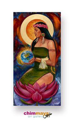 'Mother of Creation' Oil on Canvas (30x40) ChimMaya Resident Artist: *Rick Ortega*