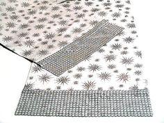 Silver star table runner  14x84 custom runner  by SABDECO on Etsy