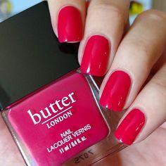 butter LONDON nail polish in Snog via Mirror Nail Polish, Mirror Nails, Nail Polish Colors, Nail Art, Mirror Mirror, Glam Nails, Cute Nails, Butter London Nail Polish, Hot Pink Nails