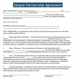 business partnership contract