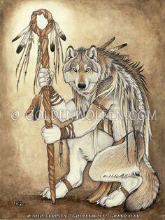 Medicine Wolf by Goldenwolf.deviantart.com on @deviantART