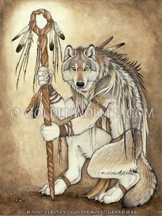 ✯ Medicine Wolf  :: Artist Christy Grandjean ✯